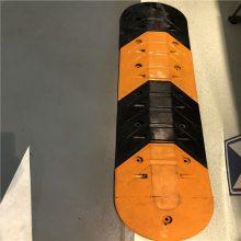 创安顺鱼尾型橡胶减速带橡胶减速坡道路减速路垄减速缓冲带