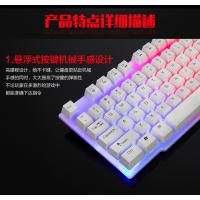 雷迪凯R260七彩背光键盘cf lol专业键盘发光usb有线游戏键盘 办公礼品定制