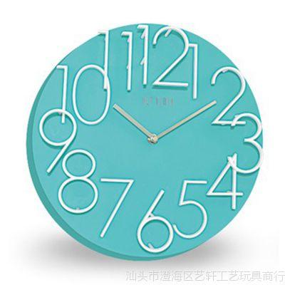 3D立体数字挂钟 简约时尚家居礼品钟 方圆形两款可选新款热销8029