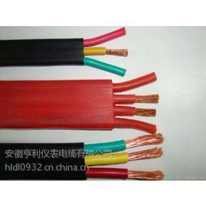 铜带编织ZC-JGGP2硅橡胶扁电缆