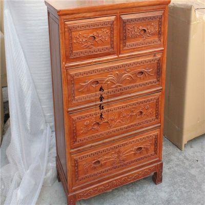 东阳厂家直销非洲花梨木家具红木家具小件缅甸花梨五斗柜实木柜储物柜