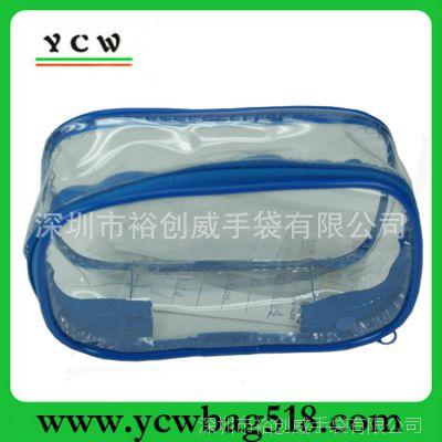 深圳龙岗厂家 订做透明PVC化妆包 OEM防水洗漱包