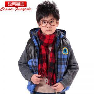 供应经典童话时尚韩版男儿中童冬装保暖马夹卫衣两件套充绒马甲3063