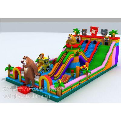 大型充气气垫 大型滑梯让孩子玩的更快乐 充气跳床的价格