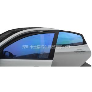 供应侧后档汽车玻璃防爆膜炫彩紫光膜 变色玻璃贴膜 高隔热汽车膜批发