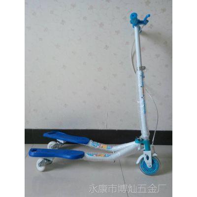 厂家直销儿童蛙式滑板车三轮车 滑板车前刹