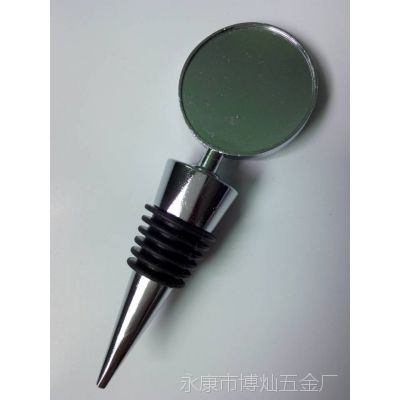 滴胶头圆片厚六丝S67-117锌合金酒瓶塞