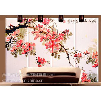床头软包壁画厂家|墙画软包价格|定做酒店背景墙壁画软包