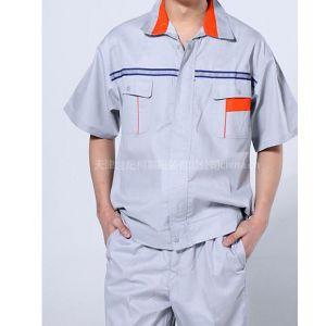 供应涤棉夏季半袖工作服,抗皱耐磨