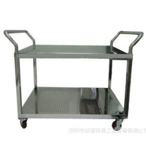 供应双层不锈钢手推车图片¥三层不锈钢手推车价格