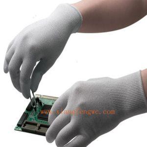 供应PU涂指手套有很好的防滑耐磨手套能提供高度舒适的灵巧性,高透气性和耐用性