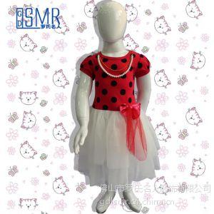 供应2014新款儿童套装 儿童服饰薄纱连衣裙