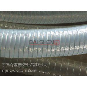 供应食品级软物料输送管,透明钢丝管,螺旋钢丝增强软管