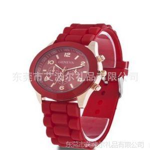 供应GENEVA日内瓦硅胶手表/硅胶礼品手表/学生手表/石英表