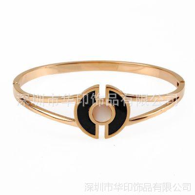 时尚韩版玫瑰金手镯  18K钛钢女士手镯  大牌同款  厂家特价批发