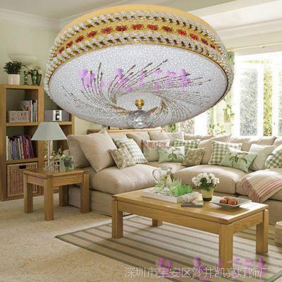 厂家直销水晶灯 led吸顶灯 圆形客厅灯 卧室 客厅 餐厅灯灯具