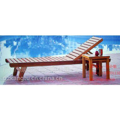 供应厂家供应菠萝格沙滩椅,酒店泳池木制躺椅,躺床