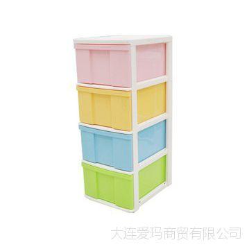 爱丽思IRIS儿童多彩抽屉柜整理柜4D彩色收纳柜无毒环保