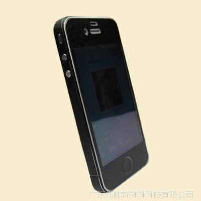 深圳直销iphone4s纯彩色皮纹全身贴|苹果手机保护膜批发