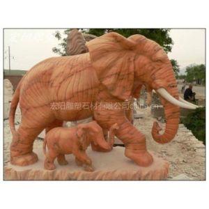 供应石雕母子象