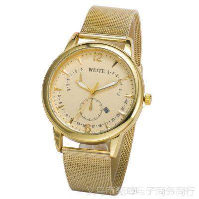 日历合金手表女士时尚时装手表欧美风外贸热销新款精致时尚