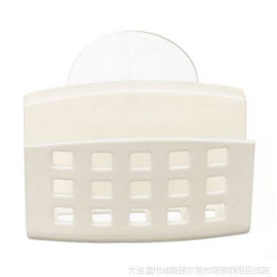 日本进口家居用品批发 吸盘海绵架 白色