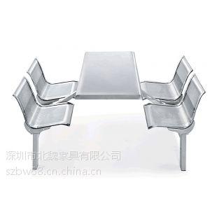 四人食堂餐桌椅、餐厅餐桌椅、学校食堂餐桌椅厂家