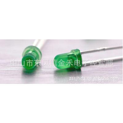 供应3MM绿发普绿 雾状散光LED发光管 指示灯