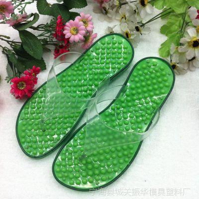2014年新款厂家直销 韩版时尚潮流 漏水透气 按摩防滑浴室水晶拖