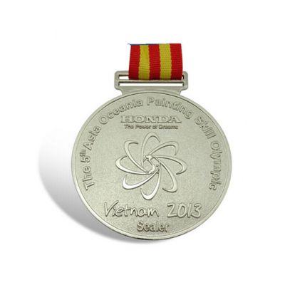纯银奖章,金银条奖牌,运动会奖章,配织带