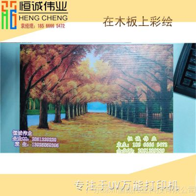 新款原木木板工艺口皮革UV平板打印机万能平板打印机