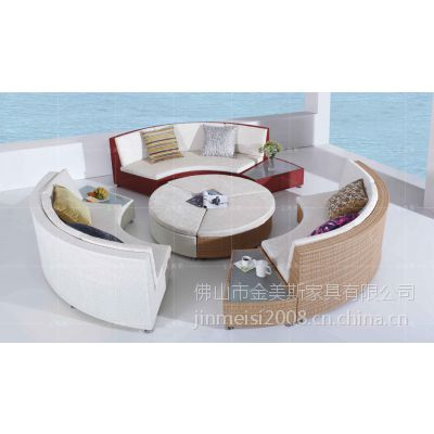户外藤编沙发休闲藤艺沙发圆形组合沙发型号9604