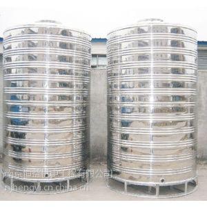 供应南京不锈钢圆柱保温水箱