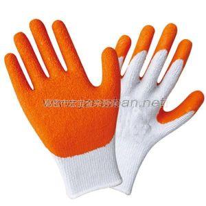 供应高密乳胶半胶手套 带胶手套批发