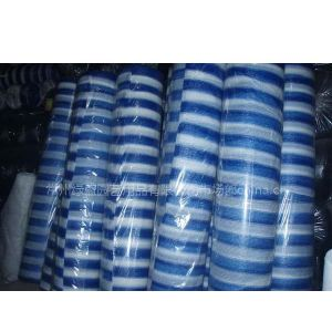供应蓝白条彩色遮阳网