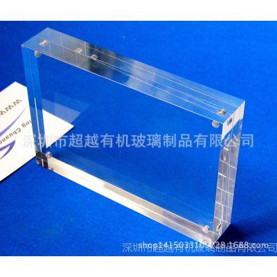 亚克力笔筒相框 水晶胶相框 水晶相架 亚克力立式带广告钉相框