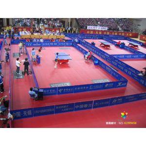 供应博格运动地板乒乓球红色塑胶卷材地板健身房耐磨弹性PVC地板上海
