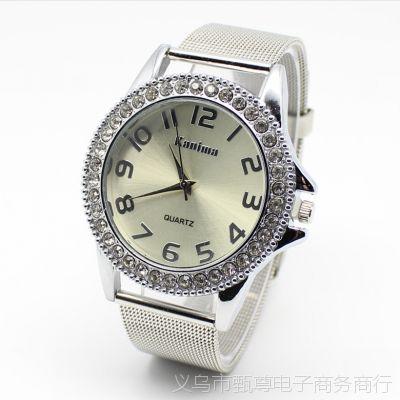 时尚超薄网带钢带手表批发 外贸男式女士手表 ebay速卖通礼品表