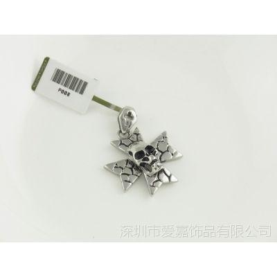 哈雷明星款 复古钛钢吊坠 珠宝首饰工厂来图来样加工定制生产不锈钢项链