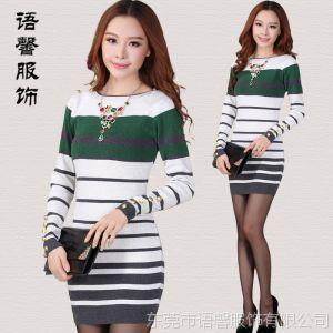 供应批发韩国长款打底新款品牌女式套头女士韩版女装针织毛衣裙 毛衣