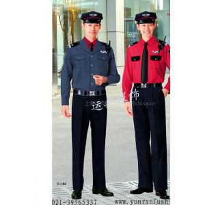 供应新款保安服 工厂保安服 物业保安服装