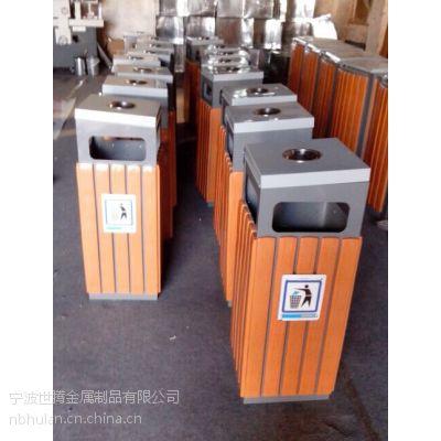 供应供应浙江宁波地区社区街道垃圾桶,钢木垃圾桶