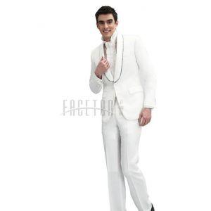 礼服白色新郎西服 夏季款