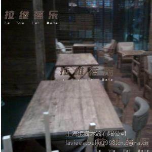 供应供应复古咖啡厅长桌 复古咖啡厅实木长桌 复古咖啡厅桌子 复古咖啡厅实木桌子定制
