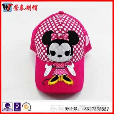 韩版卡通贴标帽纯棉质男女儿童帽子 新生婴儿 宝宝套头帽