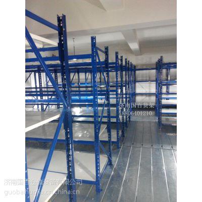 供应国百组合式仓储货架_ 大型仓库货架子安装_高位库房货架生产定制