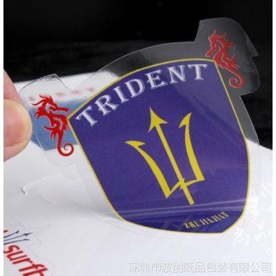 供应PVC塑料标签 透明PET贴纸 各种材质形状不干胶彩色印刷定做满意