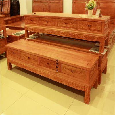 东阳红木厂家现代中式红木家具电视柜非洲缅甸花梨1.8米2米2.2米/2.4米/2.6米直角四抽电视