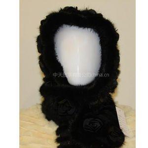 供应皮毛 皮草 编织 女士 毛球 帽子 围巾