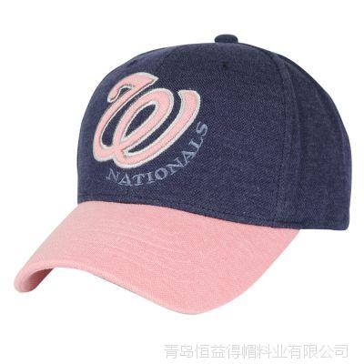 青岛帽子厂家帽业 水洗帽子批发 大量长期供应六片绣花棒球帽